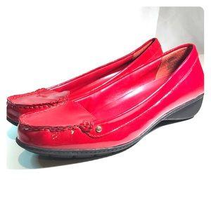 Women's Lauren Ralph Lauren  leather red loafer